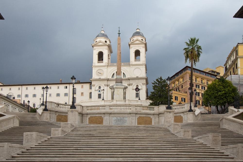 Spanische Treppe Rom Absperrung