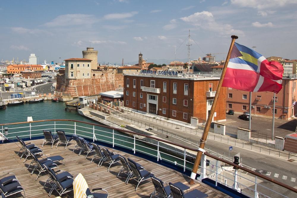 Heck Achterdeck MS Astor Livorno