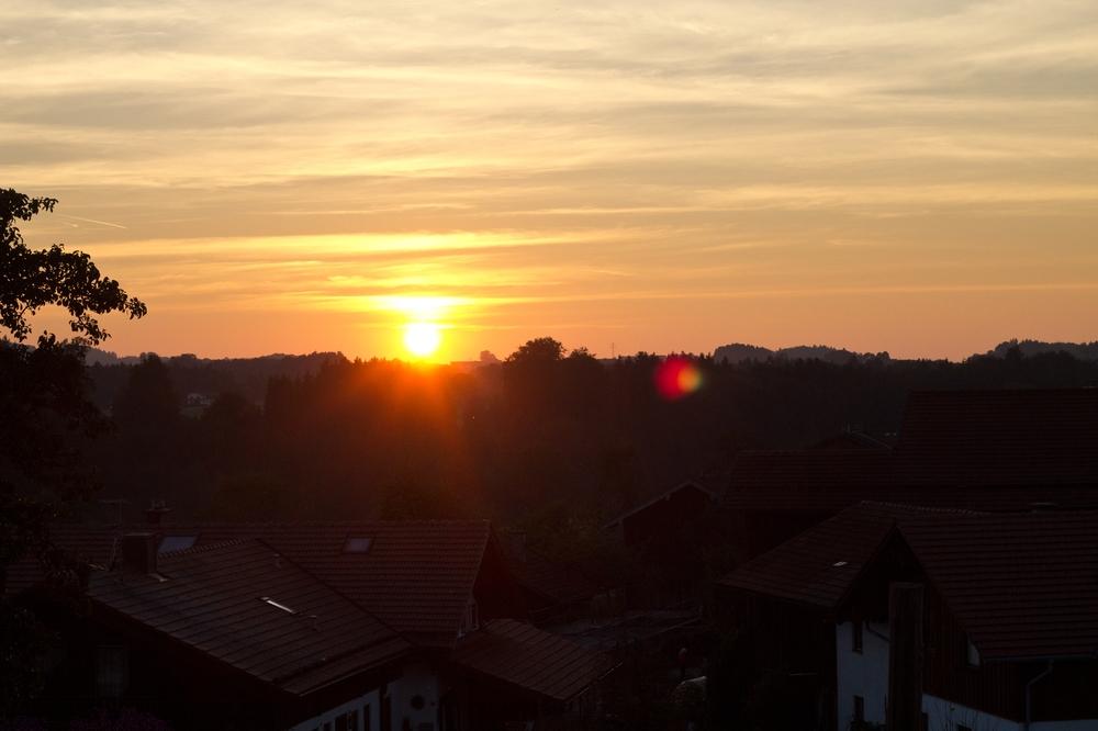 Sonnenuntergang Balkon Gut Edermann
