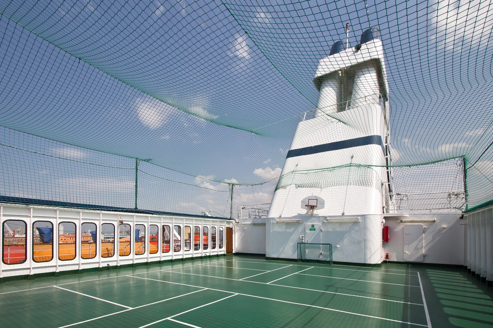 MS Astor Sportplatz Fußball Basketball