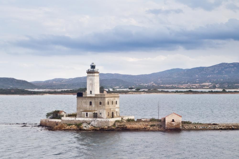 Isola della Bocca Il Faro della Bocca Olbia Sardinien
