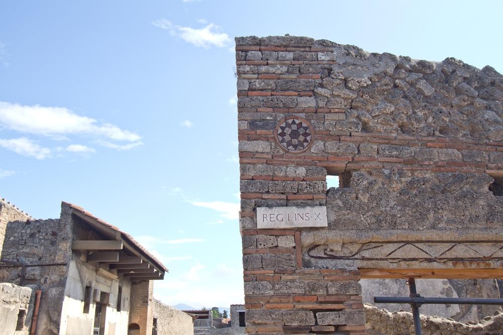Pompeji Straßenschild