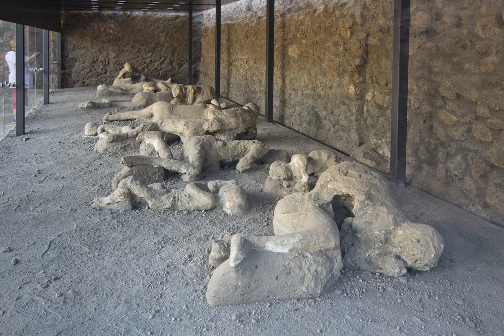 Pompeji Tote Menschen Leiche
