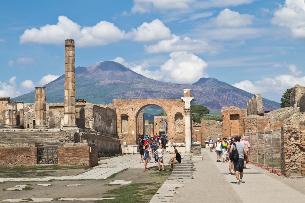 Forum Pompeji Vesuv