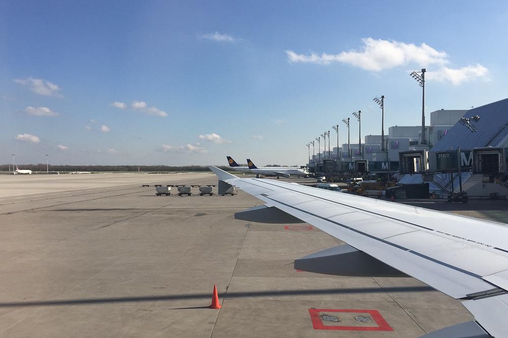Landung Flughafen München