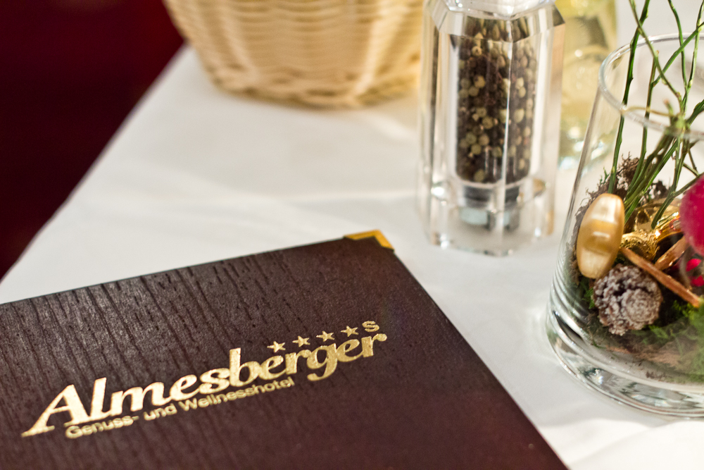Speisekarte Hotel Almesberger