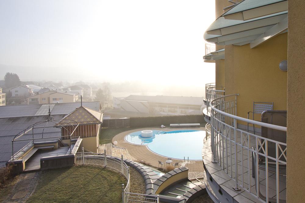 Hotel Almesberger Blick Balkon