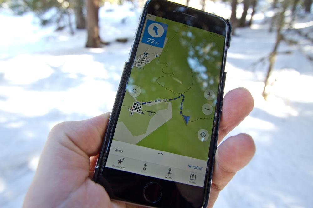 Iphone GPS maps.me Wanderung Navi