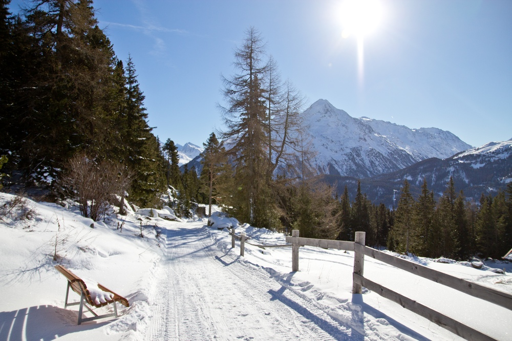 Schlittenfahren Rodeln Sölden Ötztal Stallwiesalm
