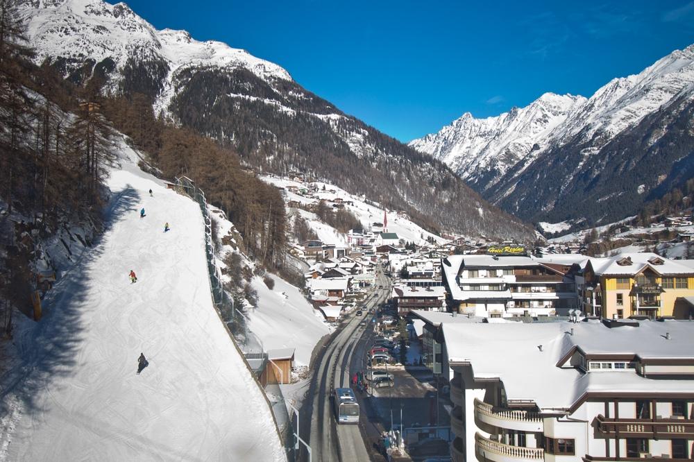 Skipiste Ski Sölden Talabfahrt