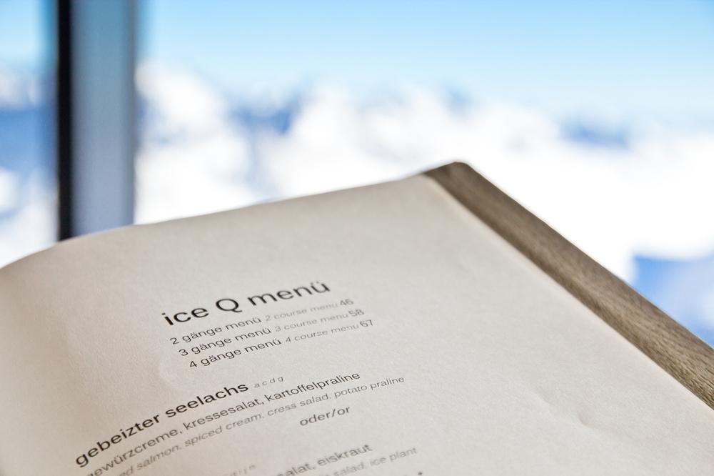 IceQ Restaurant Menu Speisekarte