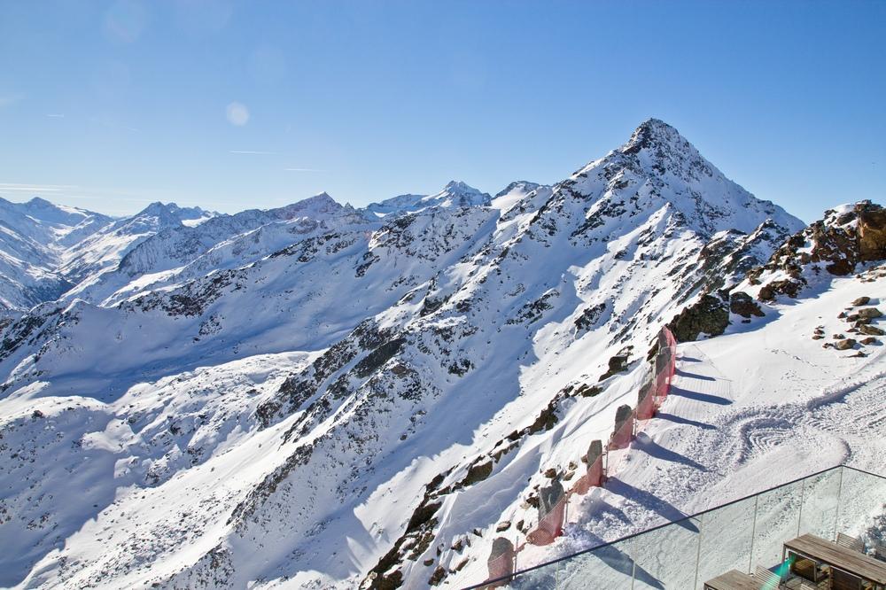 Ötztal - Sicht vom IceQ Restaurant Gaislachkogel