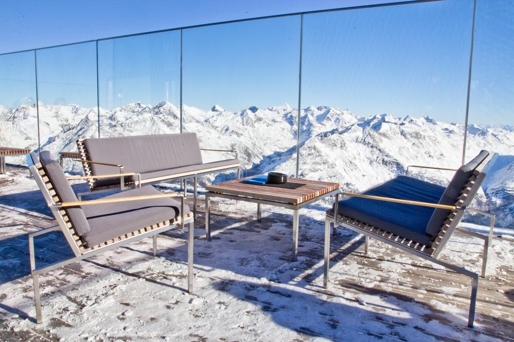 Dachterrasse IceQ Restaurant Gaislachkogel