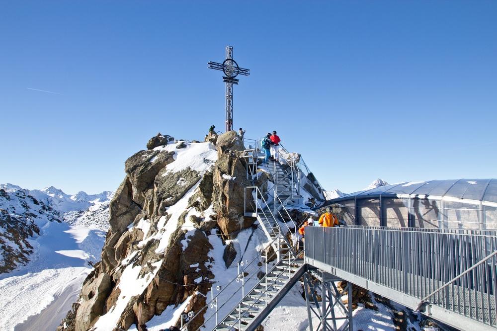 Gaislachkogel Gipfel Gipfelkreuz Ötztal