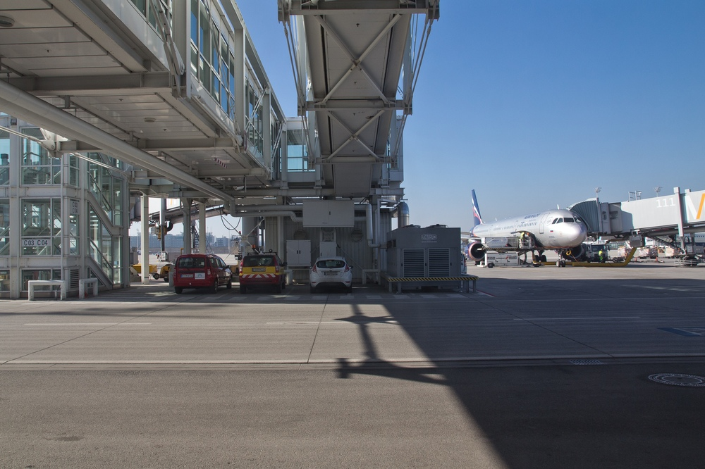 Flughafen München Gate Fluggastbrücke