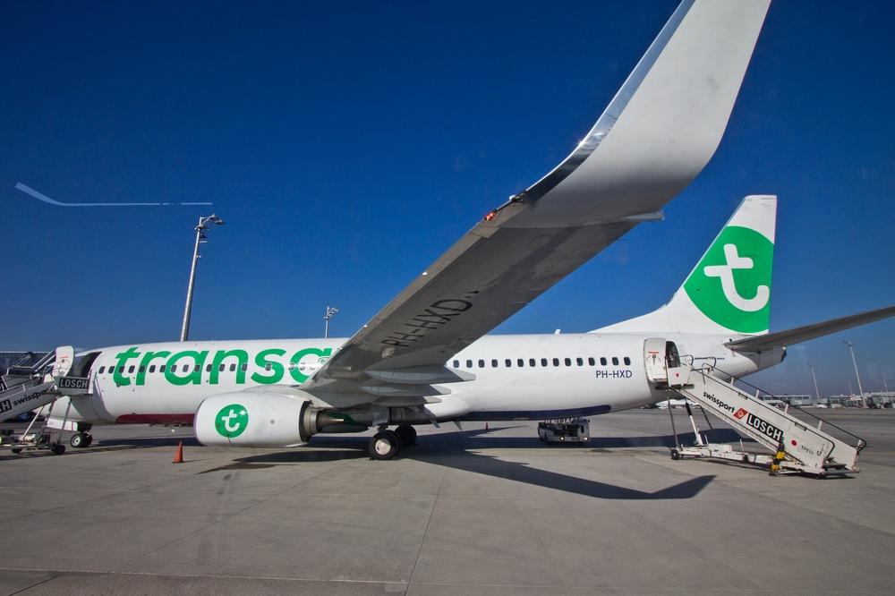 Transavia Boeing 737 Flugzeug Flughafen München