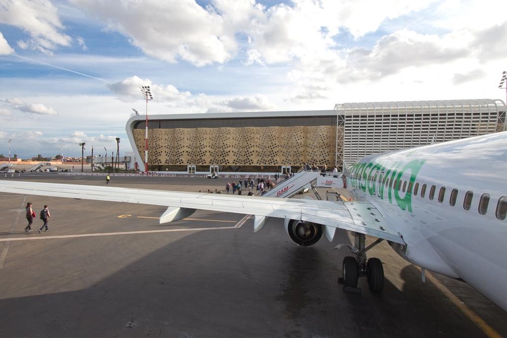 Transavia Landung Flughafen Marrakesch
