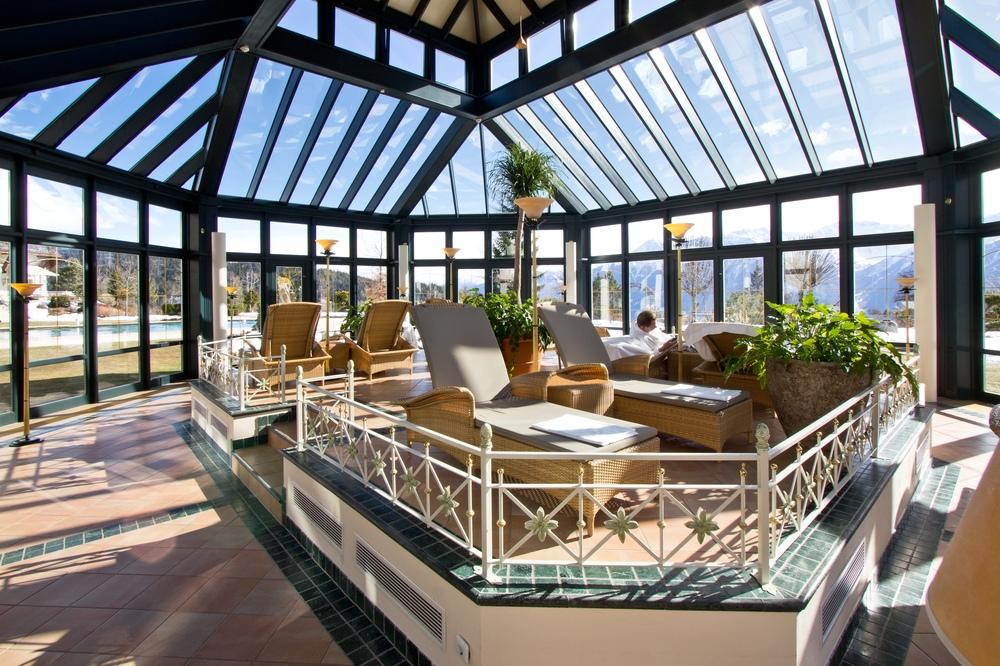 Wintergarten Ruheraum Interalpen Hotel Tyrol