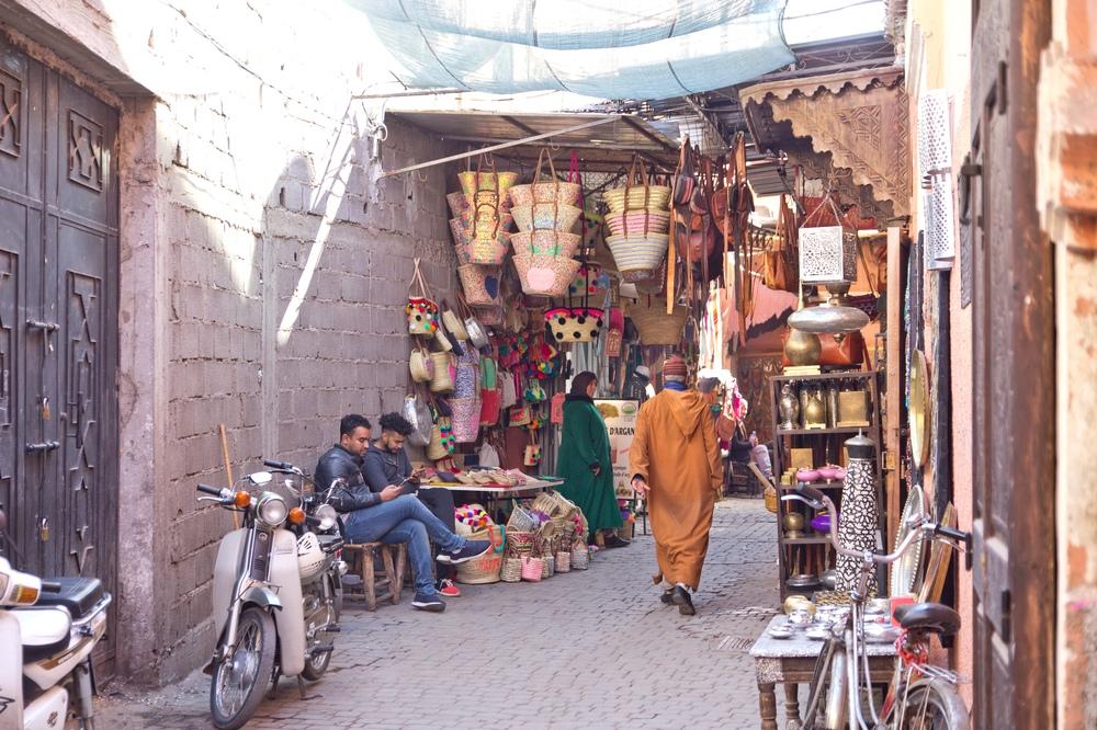 Souvenir Kaufen Marrakesch Markt Souk