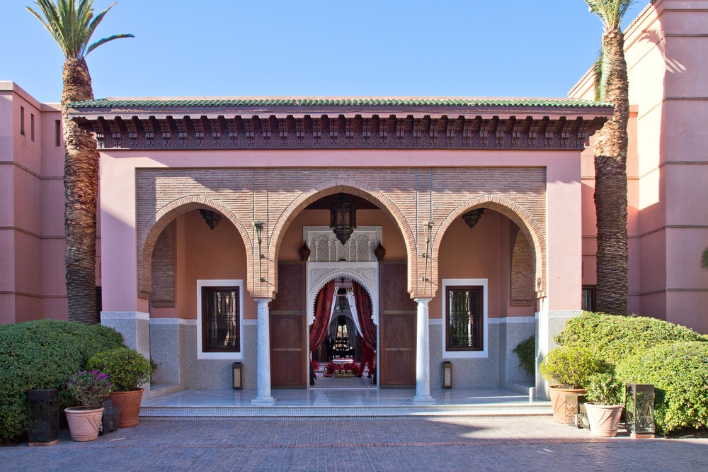 Eingang Portal Hotel Royal Mansour Marrakech