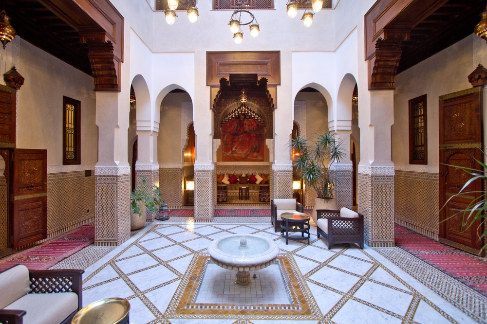 Wohnzimmer Riad Hotelzimmer Hotel Royal Mansour Marrakech