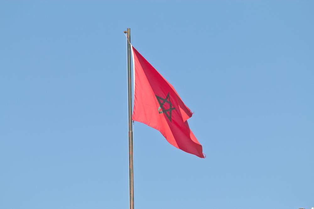 Flagge Marokko Marrakesch