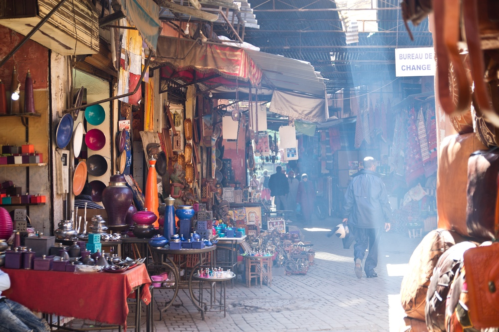 Marrakesch Suq Souk Gassen Straßen Markt
