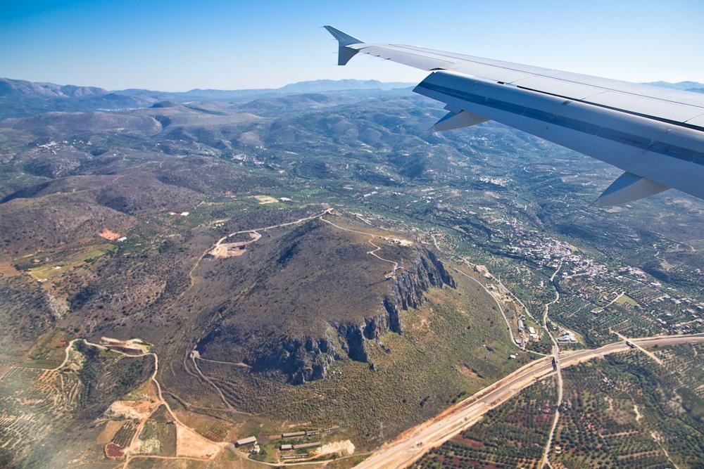Insel Kreta Luftbild Luftaufnahme Berge Gelände Straße