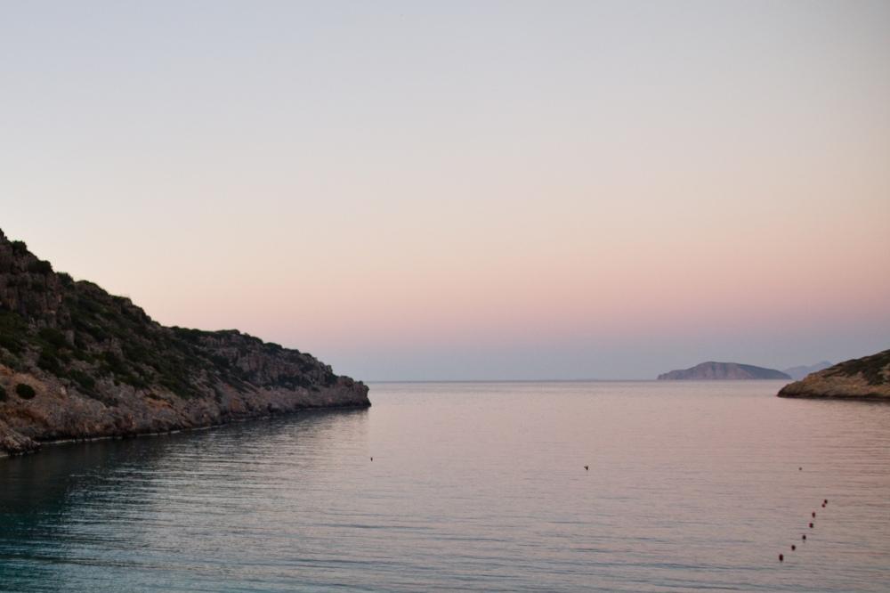 Kreta Bucht Sonnenuntergang Daios Cove Luxury Resort & Villas Kreta