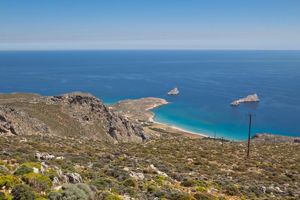Kreta Landschaft Straßen Meer