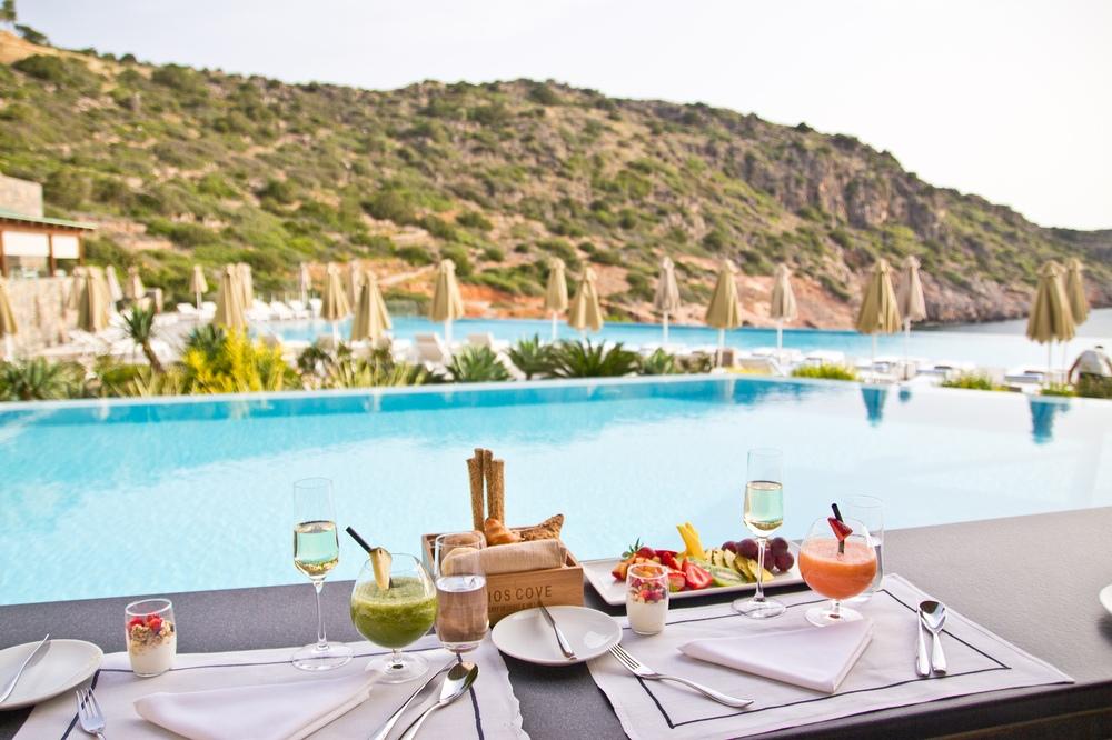 Frühstück Daios Cove Kreta Luxus Hotel