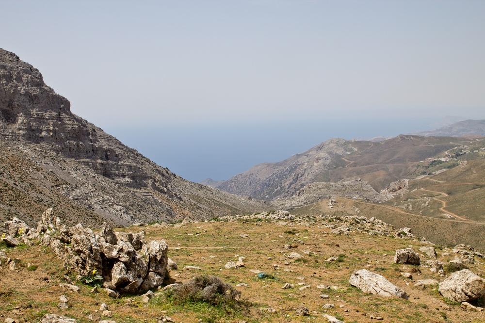 Kreta Berge Straße Urlaub