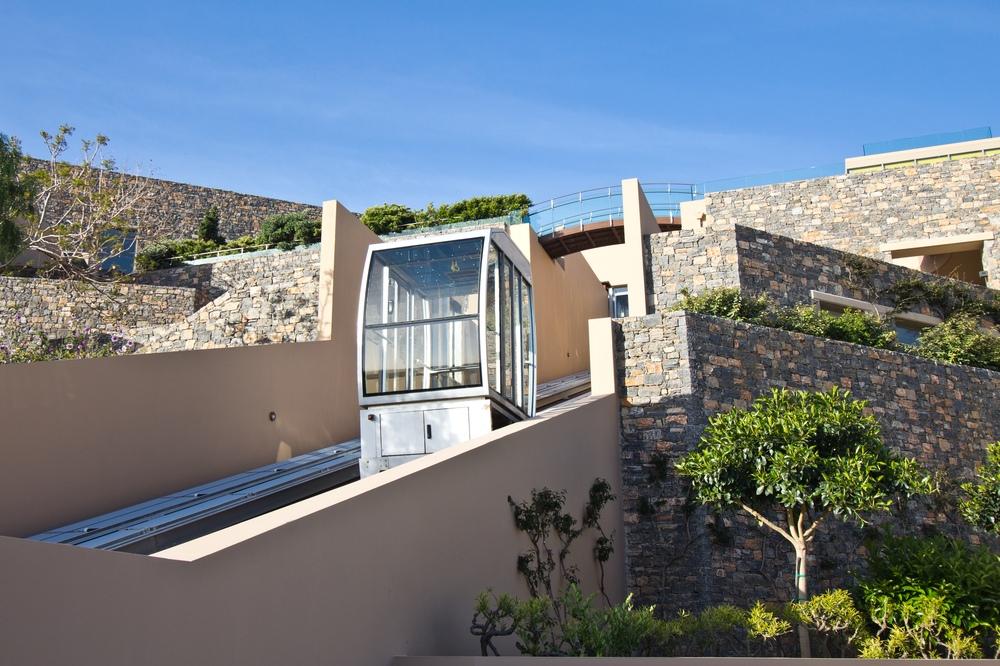 Aufzug Seilbahn Schrägaufzug Funiculaire Kreta Hotel Daios Cove Luxus