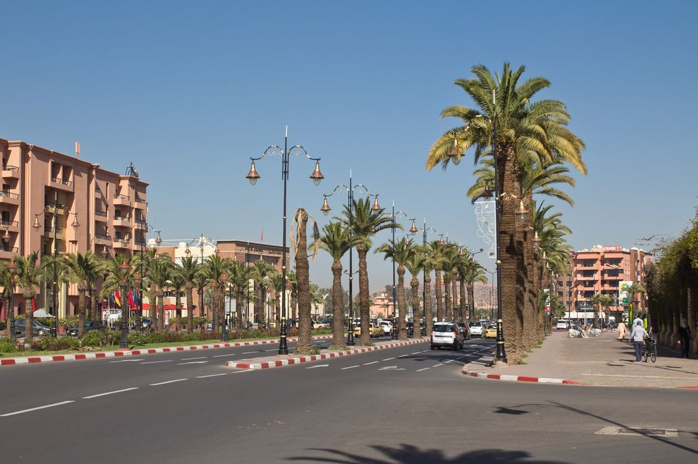 Marrakesch Reise Stadt Vorplatz Bahnhof