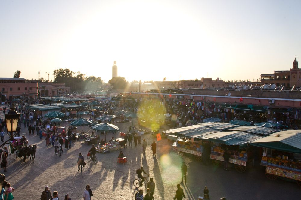 Marrakesch Reise Jeema el Fna Sonnenuntergang