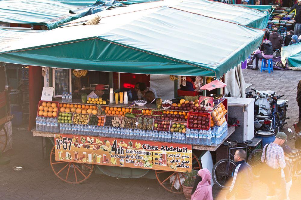 Stand Obst Markt Marrakesch Jeema el Fna