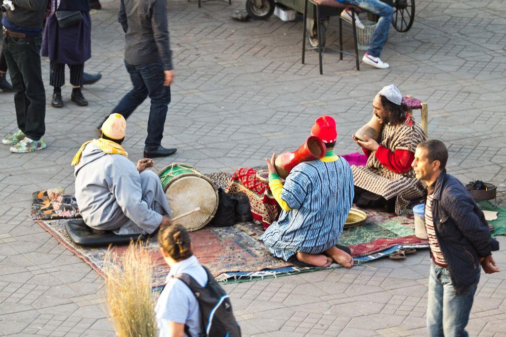 Gaukler Musiker Marrakesch Jeema el Fna