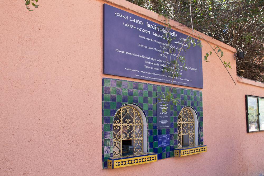 Marrakesch Straße Wegweiser