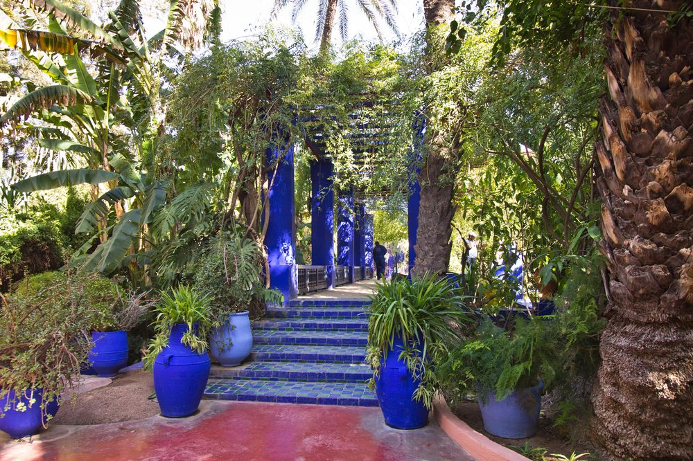 Marrakesch Jardin Majorelle Blaue Brücke