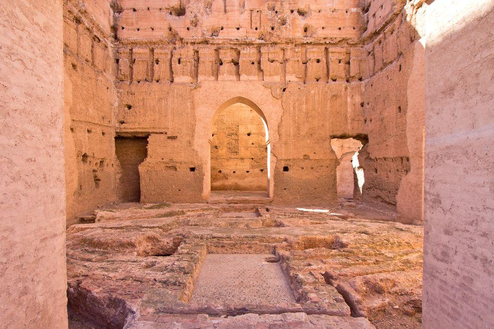 Ruinen El Badi Palace Marrakesch Ruinen Sehenswürdigkeit