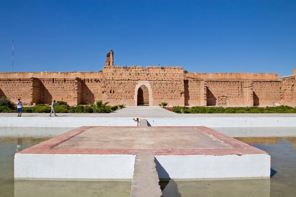 El Badi Palace Marrakesch Ruinen Sehenswürdigkeit