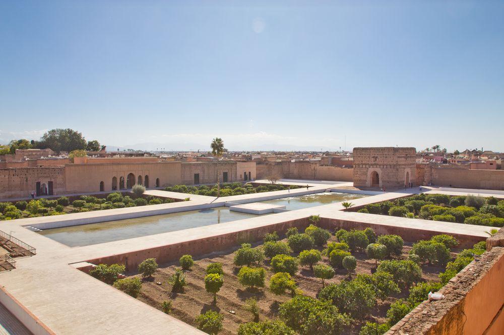 El Badi Palace Marrakesch Ruinen Sehenswürdigkeit Übersicht